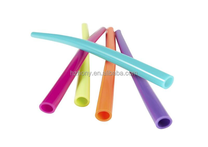 Silicone Straw 5 Pack of Reusable Straws (Assorted Colors)