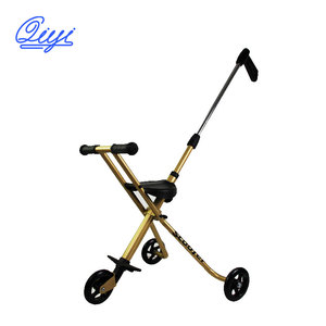 China Factory 3 Wheel Aluminum Alloy Foldable Baby Stroller for Kids