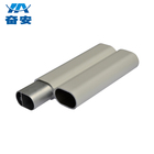 Aluminium profiled tubing,powder coating colored aluminium trapezoid tubes,factory sale aluminium travel trailer frames