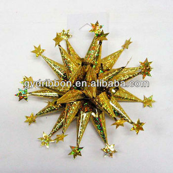 Christmas Tree Decoration Ribbon BowFirework Bow For Holiday