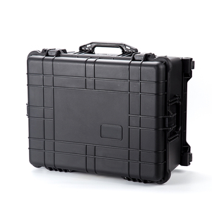 626*495*303mm waterproof wheeled hard plastic waterproof fly box carrying tool case with foam