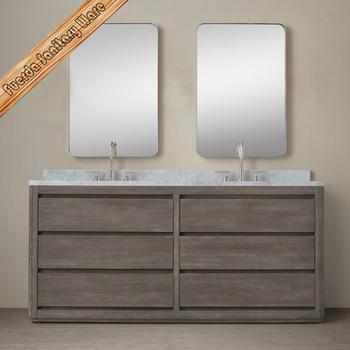 72 Inch Big Size Double Bathroom Vanity Cabinet Oak Bath Cabinet