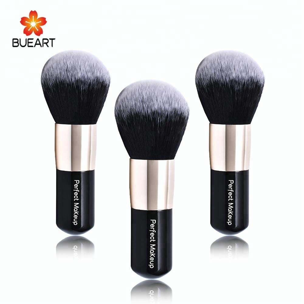 Big powder brush nero due strati capelli sintetici cosmetici trucco