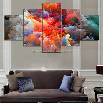 Pop Hd 5 Panel Simple Abstract Wall Picture Painting Home Decor