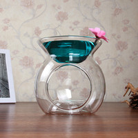 heat resistant hand blown glass aroma oil burner wholesale