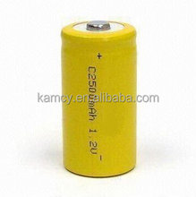 high rate 1.2v c 2500mah nicd rechargeable battery for power tools