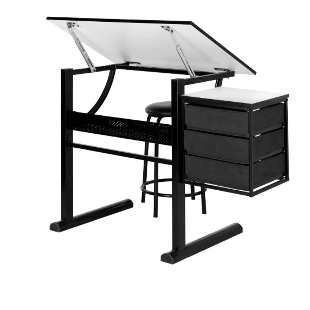 Get Quotations · Drafting Tables For Adults, Contemporary Table And Stool  Set For Home Architecture Tall Modern Drafting