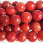 Gemstone Round Red Sponge Coral Beads