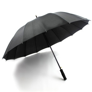 Auto wholesale cheap super windproof large 16ribs janpese black rain umbrella