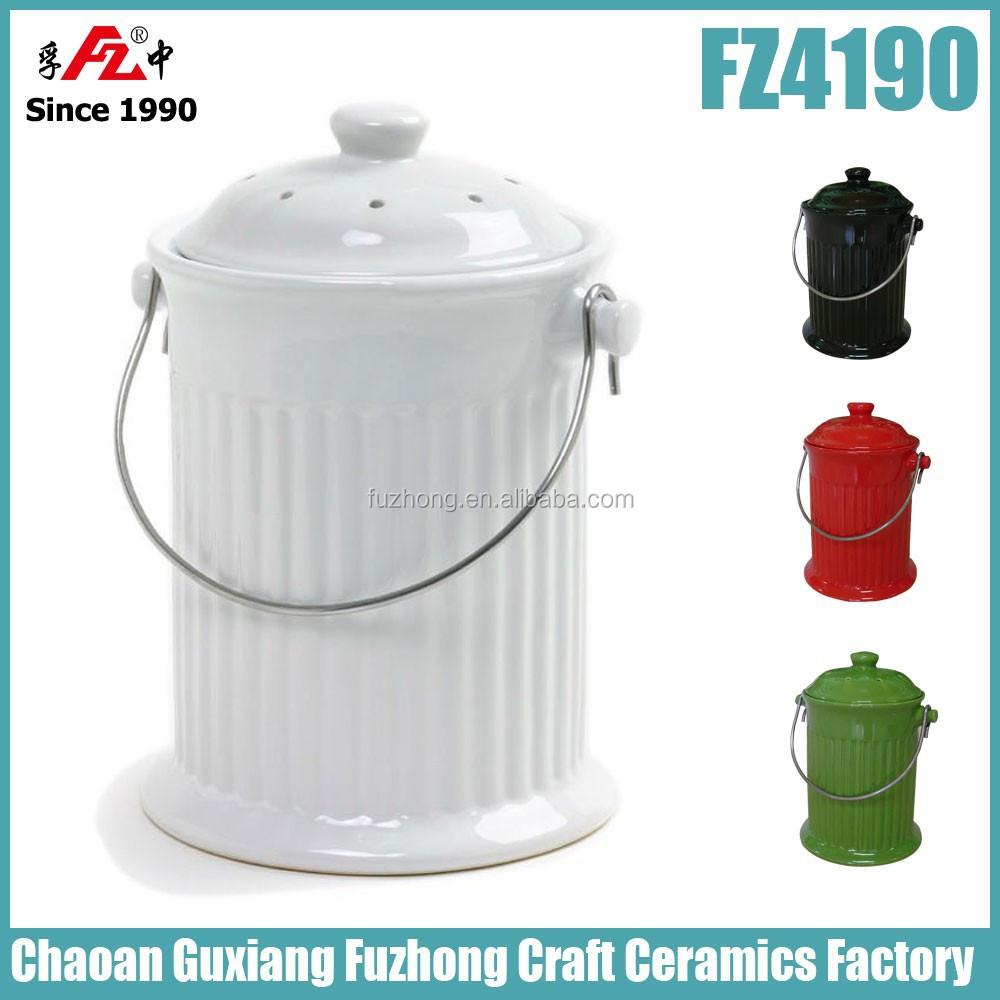 küche kompost behälter mit deckel und filter-mülleimer-produkt id