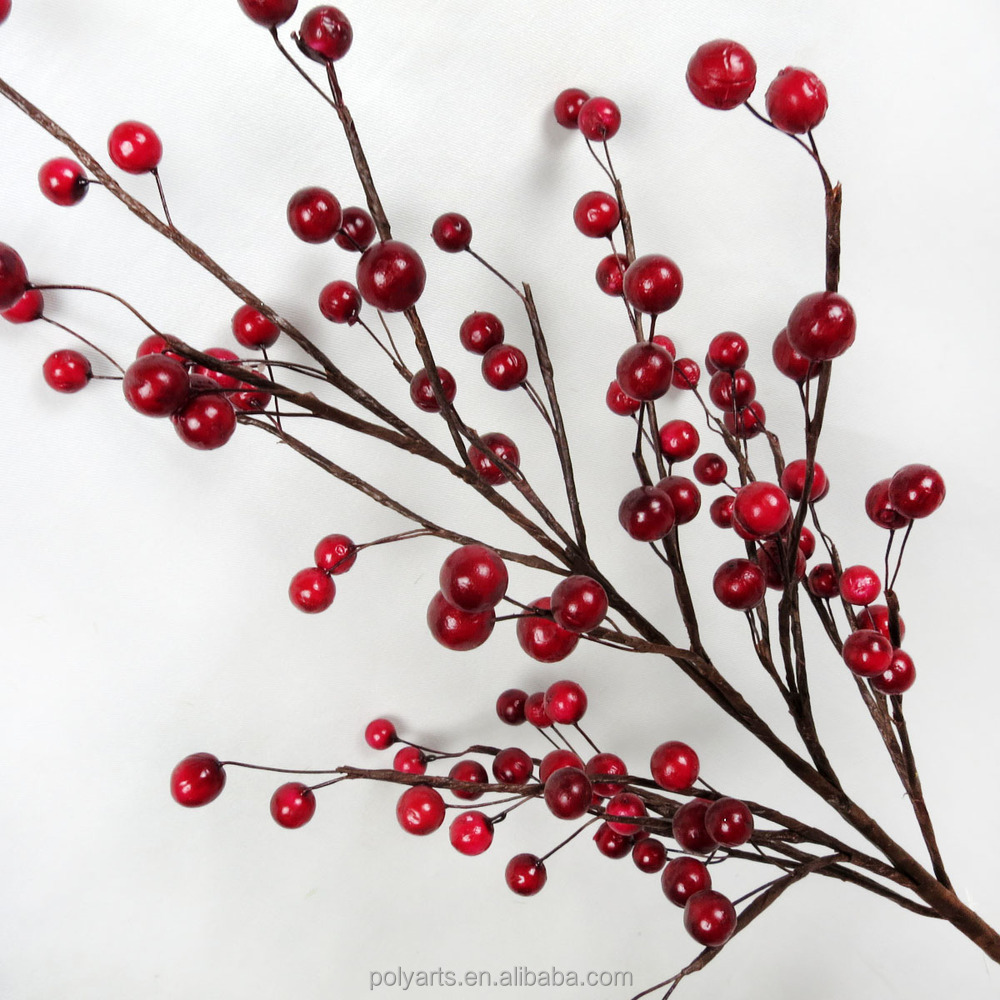 Quot artificial red berry branch tree branches