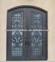 Wrought iron entry door glass inserts door window inserts better quality than lowes exterior wood doors made in China