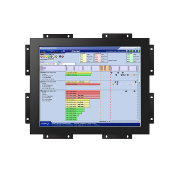 10 inch Industrial Embedded Open Frame TFT LCD Monitor with Metal Case DVI/VGA/USB Ports for automation application
