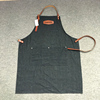 Fashion bib apron with leather strap for work