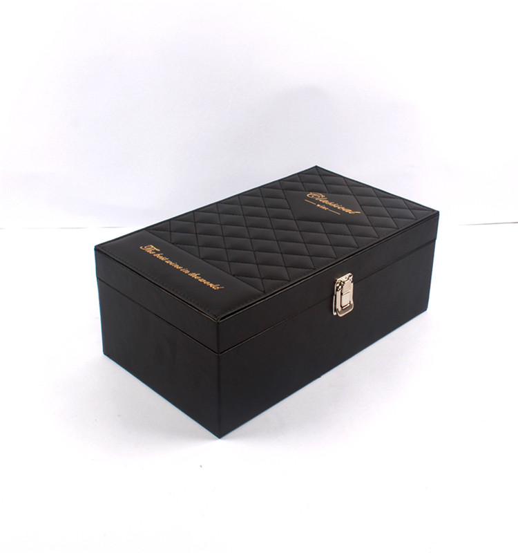 square wooden box for red wine