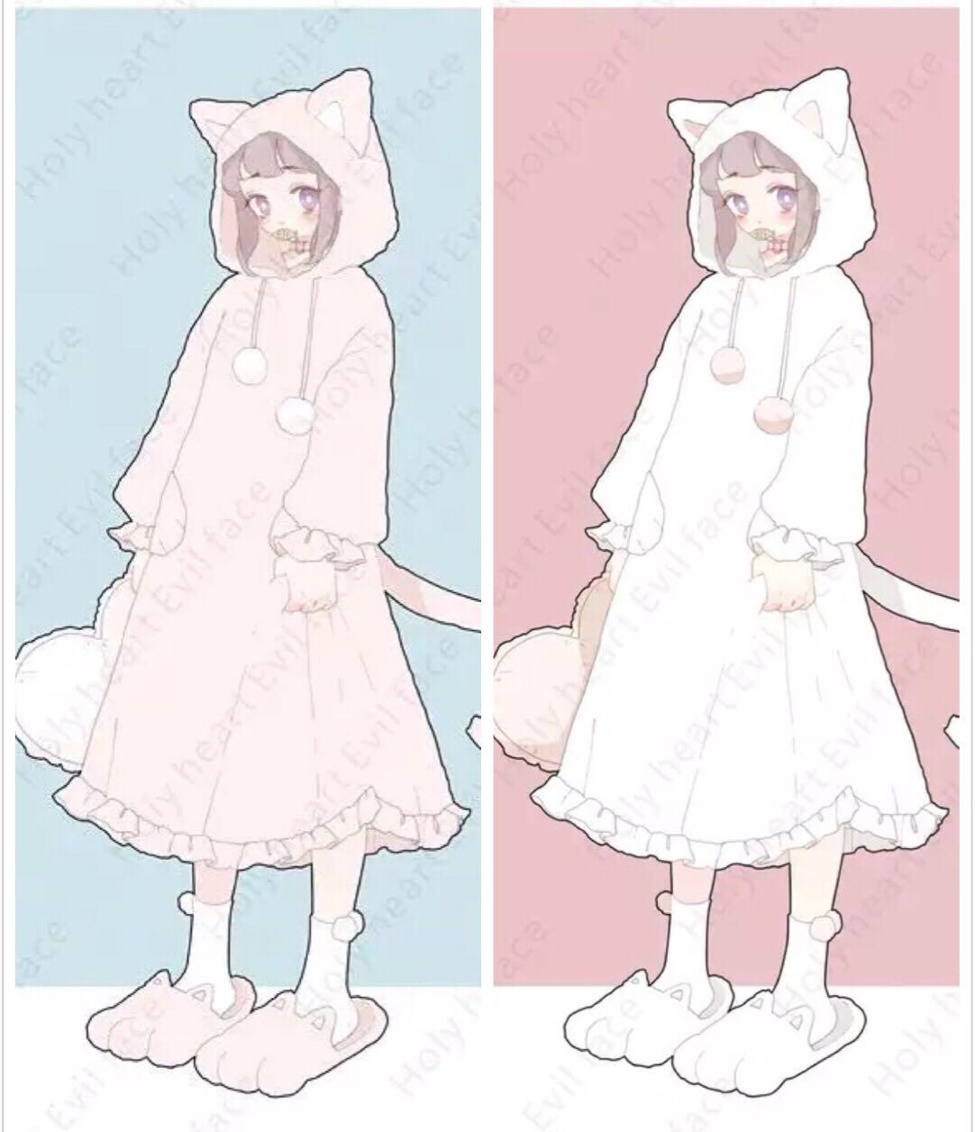 Youth-Song Sweet Lolita Woolen Cape Ears Hooded Cute Princess Fleece Girls Coats Kawaii Women Overcoat