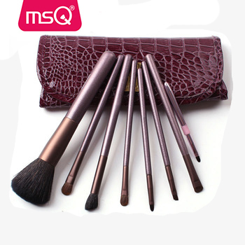 MSQ 7pcs goat hair cheap cosmetic make-up set