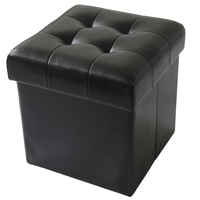 Pouf Living Sofa Mirrored Ottoman Chair