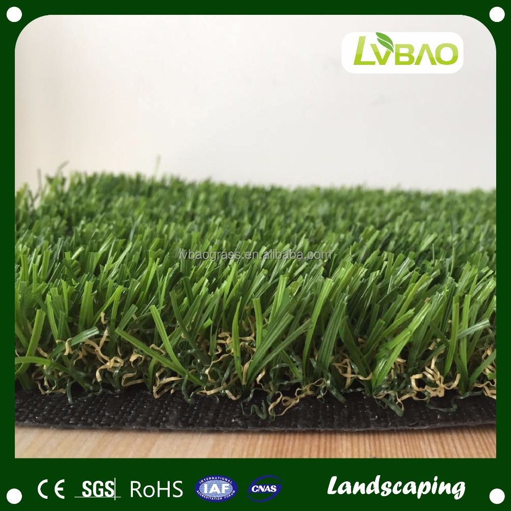 Turkey Professional & U Shape Natural Look Artificial Landscaping Grass Turf SGS/CE/ISO9001