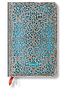 """Maya Blue"" Mini 18-month Academic Weekly Planner, July 2016 to December 2017 (3.5 X 5)"