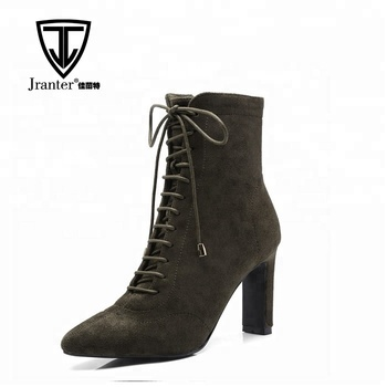 06c33a0f692 Fashion Women Lace Up High Heel Stiletto Ankle Boots, View sexy high heel  ankle boots chunky heel ankle boots lace up high heel ankle boots high heel  ...