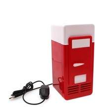 New Mini USB Fridge Cola Drink Beverage Cans Cooler Warmer Refrigerator Freezer Car Fridge High quality