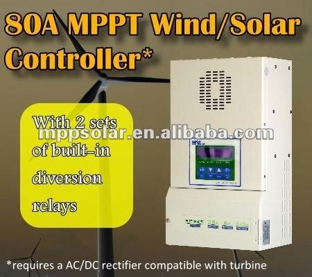 80a 12v 24v 48v Mppt Wind Solar Charge Controller Mppt Solar ...