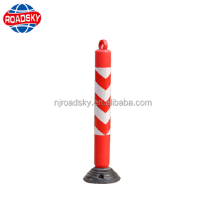 traffic delineator bollard plastic road lane divider