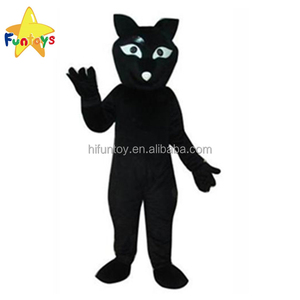 Funtoys CE Black Fox adult papa animal mascot costumes