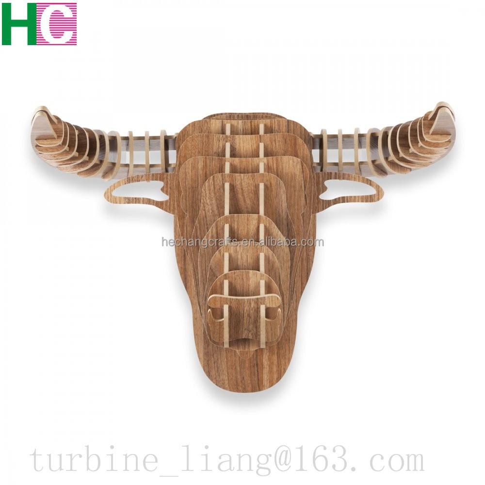 hot selling hout dierenkop voor wanddecoratiehout