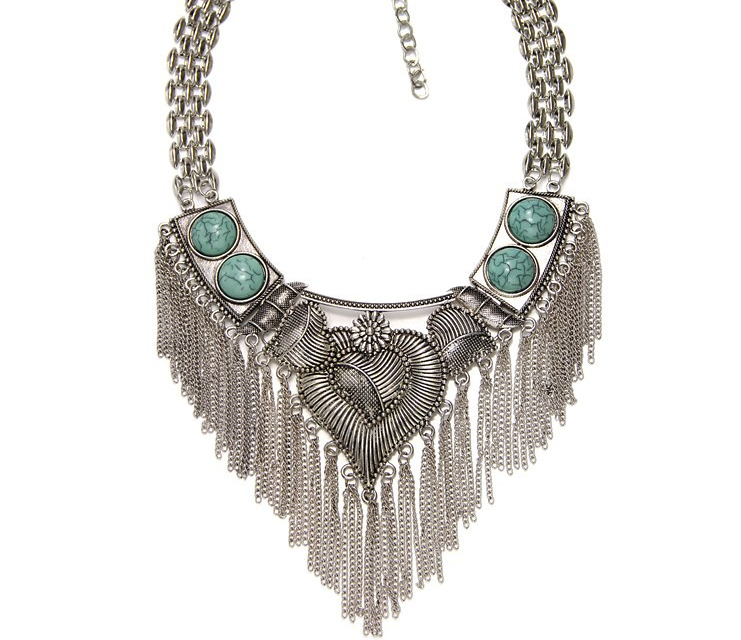 Relatively 2015 Brand Design Vintage Necklace For Girl Friend Heart Shape  ET03
