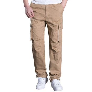 Men Cargo Elastic Jogger Pants With 6 Pockets,Summer Thin Working Pants Men Workwear Trousers
