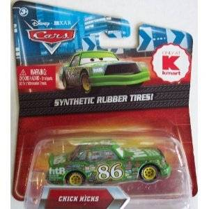 Disney / Pixar CARS Movie Exclusive 1:55 Scale Die Cast Car with Synthetic Rubber Tires Green Chick Hicks by Mattel
