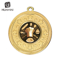 free design custom 3D shape world cooking contest gold silver bronze chef medal