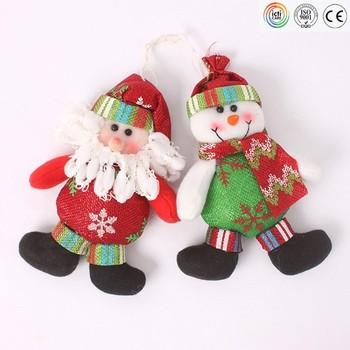 small santa claus plush hanging toys christmas plush toys christmas gift for christmas decoration - Christmas Plush Toys