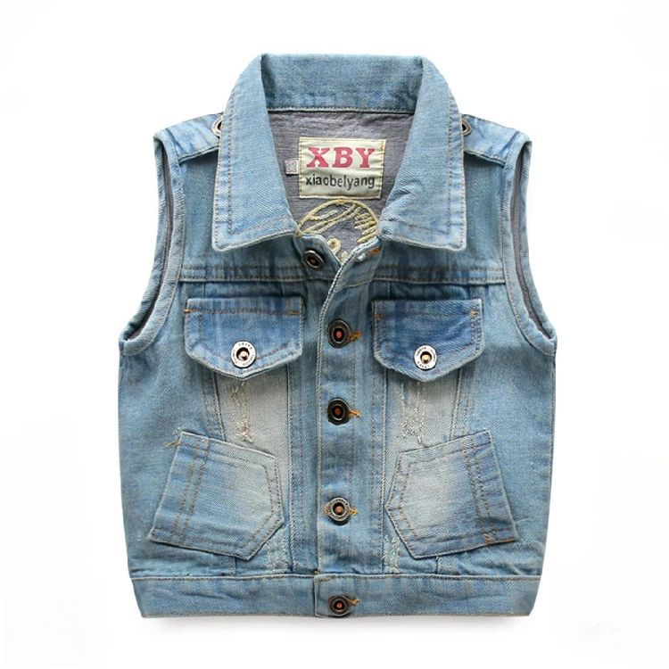 939617808567 Cheap Kids Denim Vest Boys