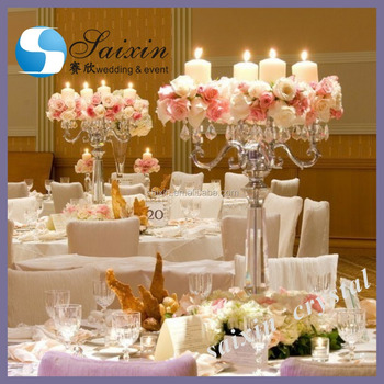 Crystal Centerpieces For Wedding Tabletable Top Candelabraflower