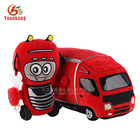 YK ICTI factory best soft toys small custom red plush toys truck for kids