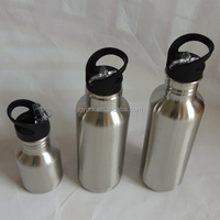 350ml 800ml single wall 600ml double wall 18/8 stainless steel high quality sport water bottle
