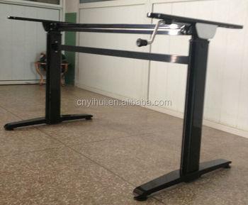 Hoogte verstelbare metalen kantoor tafel been buy hoogte