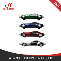 Promotional custom logo printing racing car shaped plastic ballpoint pen
