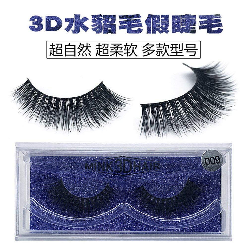 babe7dc4bcb Get Quotations · Eyelashes 3D Mink Lashes Luxury Hand Made Mink Eyelashes  High Volume Cruelty Free Mink False Eyelashes