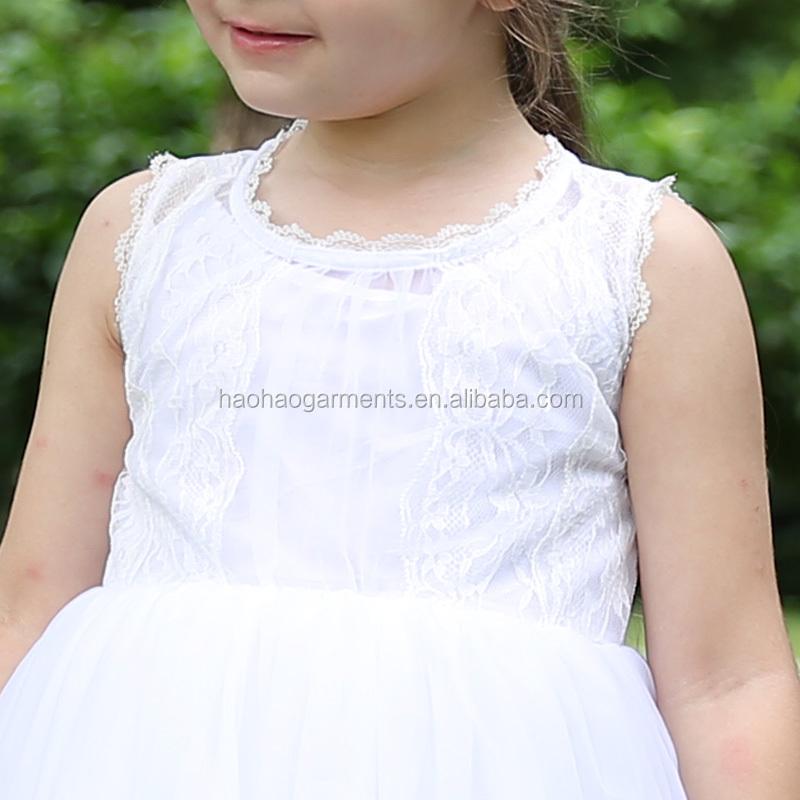 9a35e748a225 2018 Western Style Baby Girl Princess Wedding Frocks Design Children White  Lace Long Maxi Dress