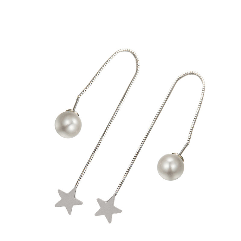 Jewelry & Accessories Beautiful 925 Sterling Silver Stud Earrings Set Drill The Two Pearls Women Fashion Jewelry Quality And Quantity Assured