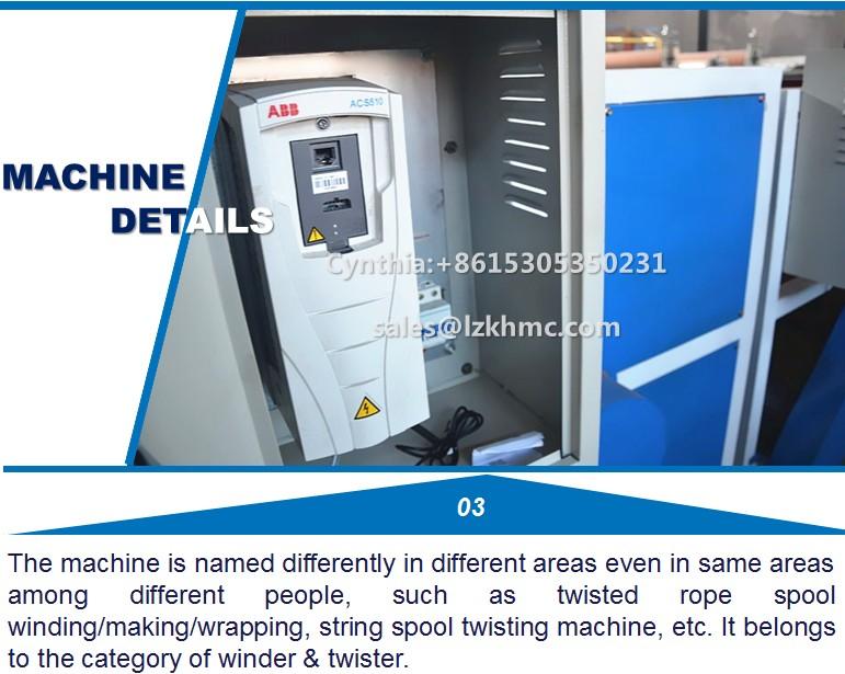 Best selling máquinas KHMC 2 em 1 twister corda e enrolador máquina feno enfardadeira