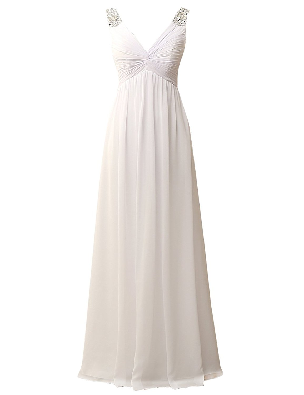 0b179035b93 Get Quotations · JAEDEN Beach Wedding Dresses For Bride Chiffon Bridal Gown  Simple