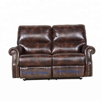 Clic Genuine Leather Recliner Sofa For Livingroom