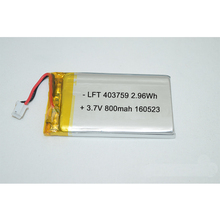 Ultra sottile <span class=keywords><strong>4mm</strong></span> spessore 403759 3.7 v 800 mah ricaricabile li-ion con PCM