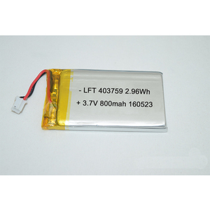 Ultra thin 4mm thickness 403759 3.7v 800mah rechargeable li-ion battery with PCM