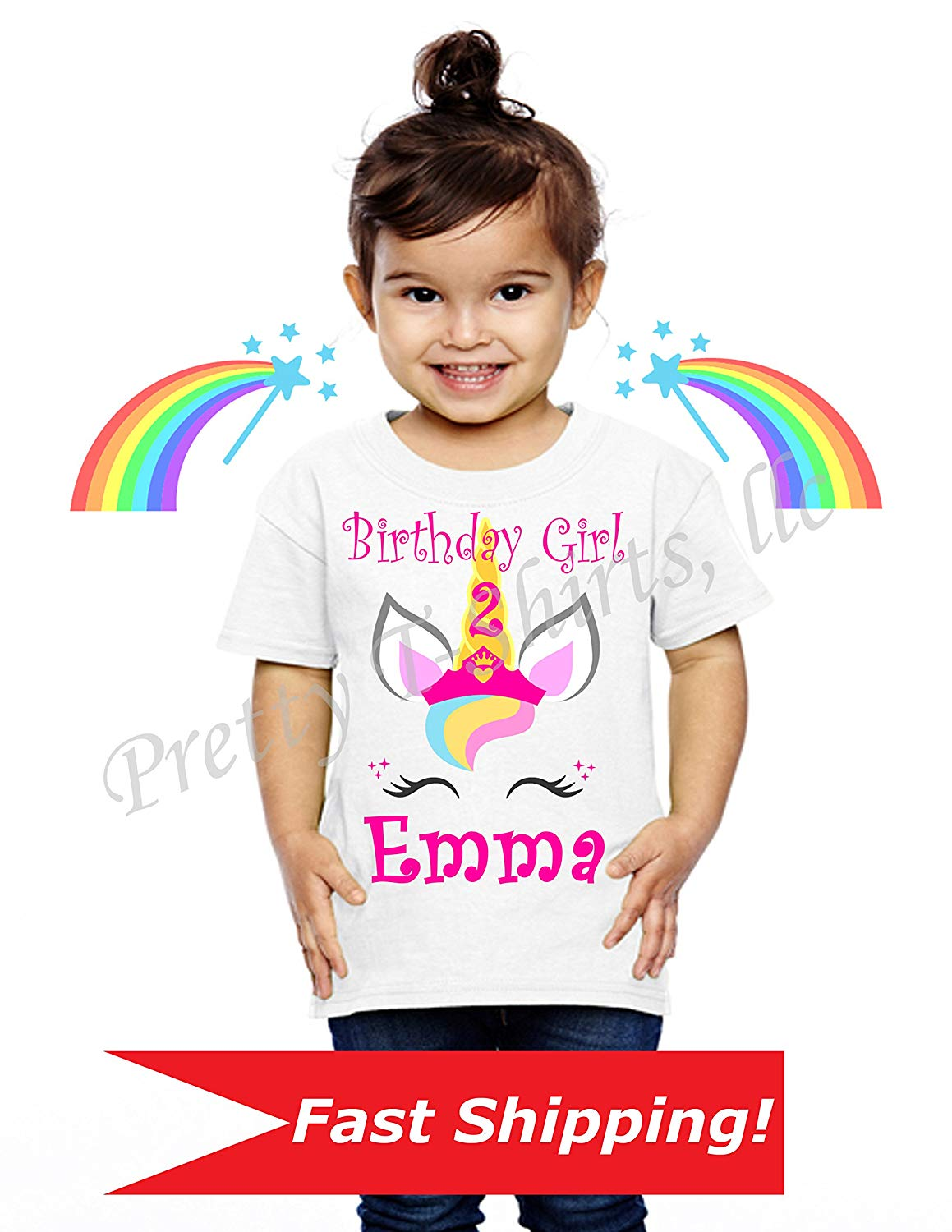 Get Quotations Unicorn Birthday Shirt Family Shirts Princess Party Favor Add
